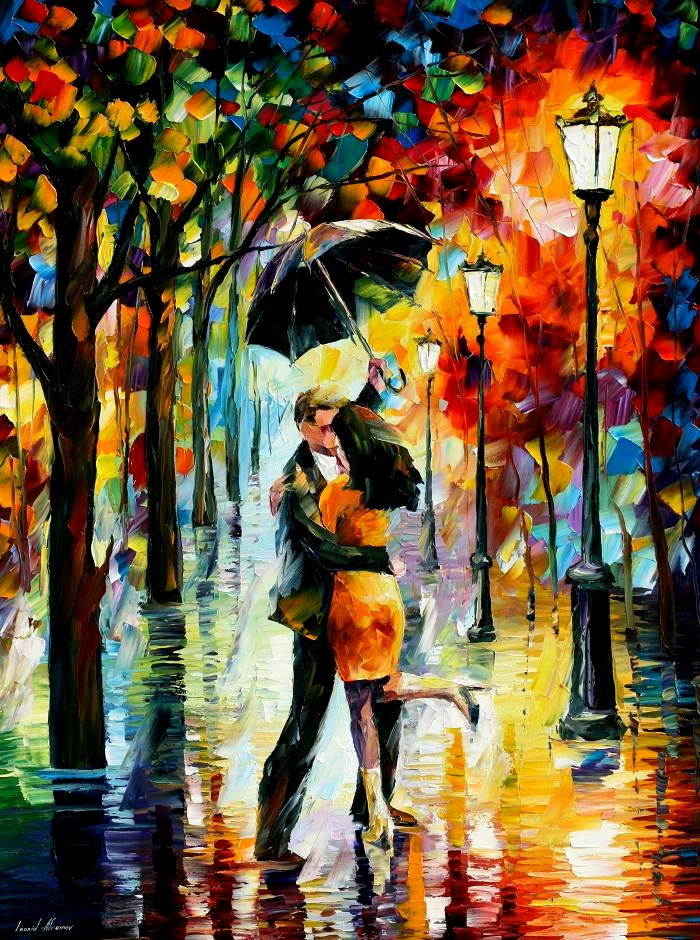 dance under the rain-leonid afremov